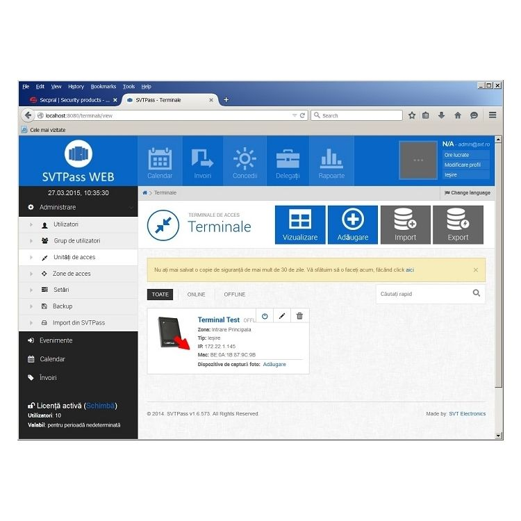 Licenta Software Pentru 250 De Utilizatori Svtech Svt Pass 2_250