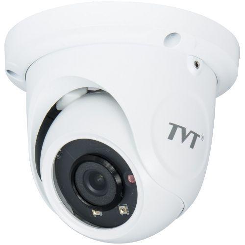 Camera IP TVT TD-9524S1H(D/PE/AR1) Dome Starlight H.264 2MP 1080P@30fps CMOS 1/3 inch 3.6mm 2 LED IR 20M carcasa metal POE