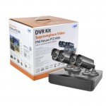 Kit complet de supraveghere video PNI House PTZ1000, 4 camere, HDD 1TB inclus