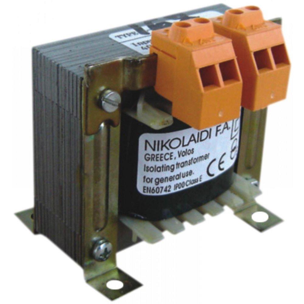 Transformator Retea 230v/12v 230v/24v 230v/48v 100va Nikolaidi