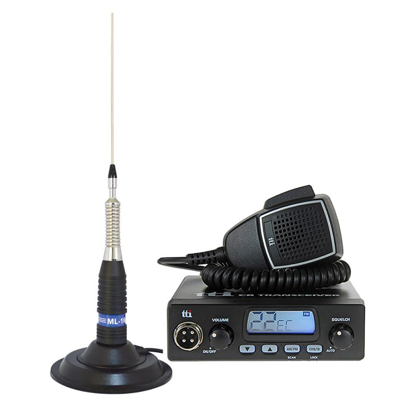 Kit Statie Radio Cb Tti Tcb-550 + Antena Pni Ml160 Cu Magnet Tti-pack21