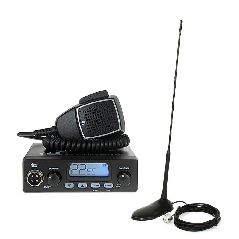 Kit Statie Radio Cb Tti Tcb-550 + Antena Pni Extra 45 Tti-pack24