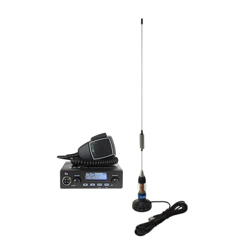 Kit Statie Radio Cb Tti Tcb-550 + Antena Cb Midland Lc59 Cu Magnet Tti-pack27