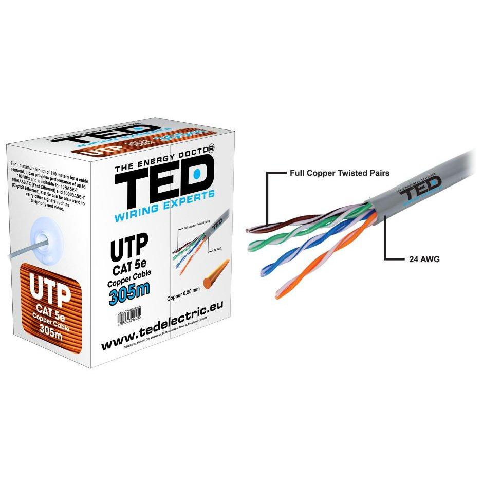 Cablu UTP CAT5E cupru TED / 305ml