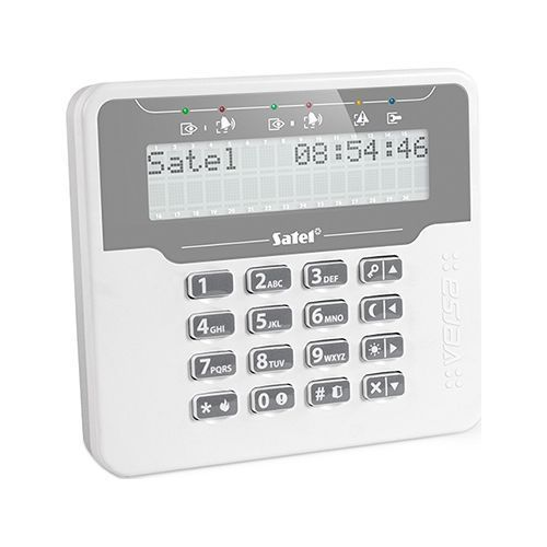Tastatura alarma Satel VERSA-LCDM-WH Afisaj LCD Compatibila VERSA