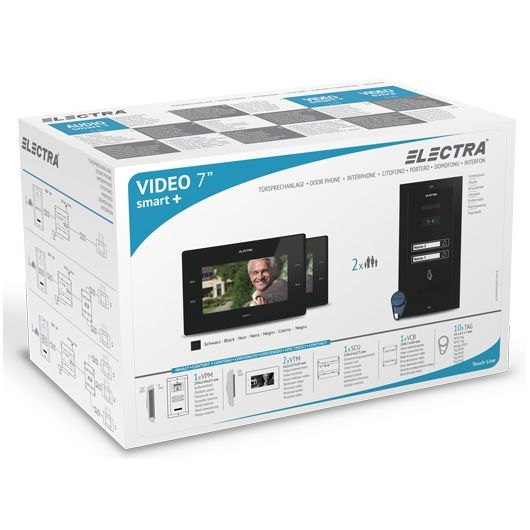 Kit Videointerfon Electra Pentru 2 Familii Vkm.p2s