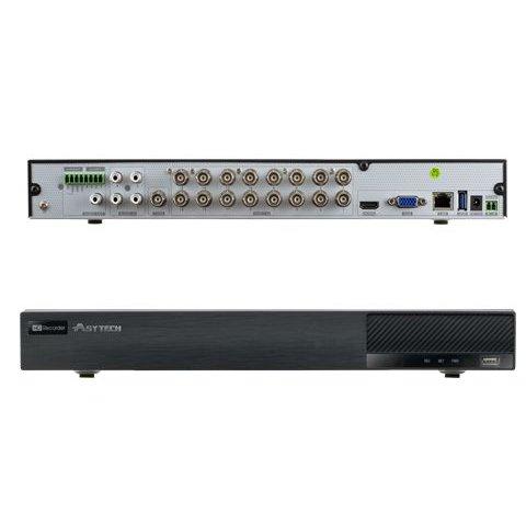 DVR 16 canale Asytech VT-2316HP Pentabrid TVI / AHD / CVI / Analog + 4 canale IP 3MP 2xSATA ONVIF