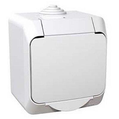 Priza simpla aparenta cu capac Cedar Plus Schneider WDE000541