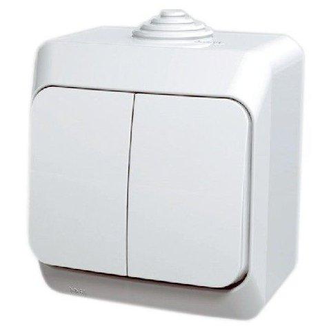 Intrerupator dublu aparent Cedar Plus Schneider WDE000550
