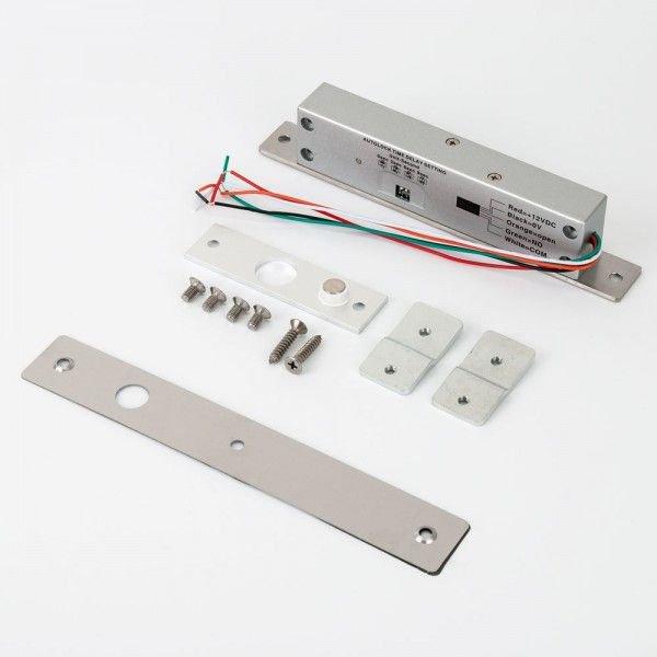 Minibolt electric (fail-safe) cu monitorizare temporizare senzor magnetic si led de stare pe partea frontala YB-500A(LED)