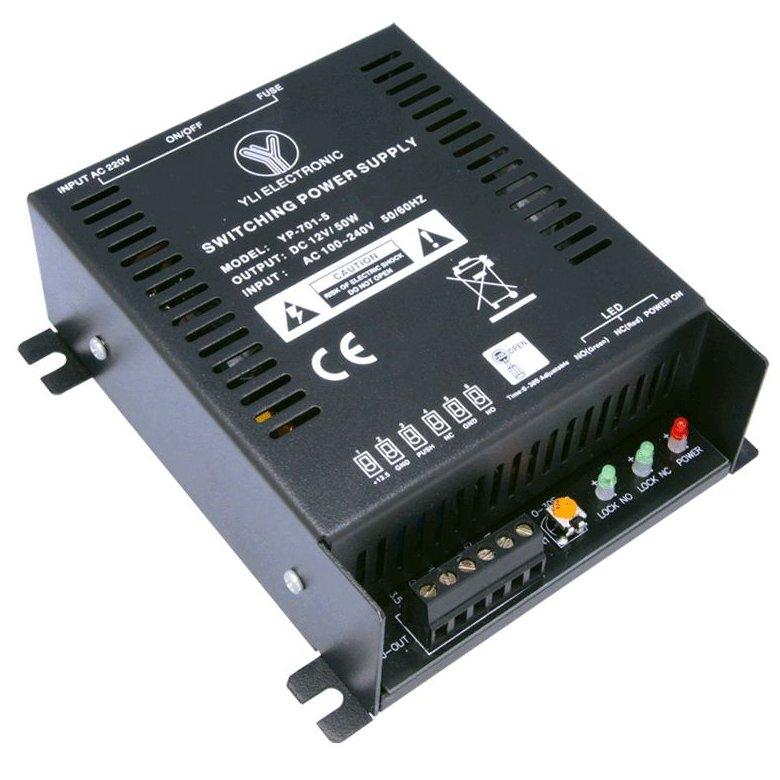 Sursa de alimentare Yli YP-904-12-3-B pentru control acces