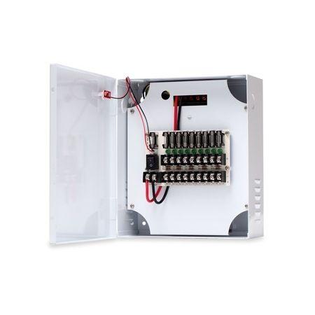 Sursa de alimentare in comutatie cu back-up ZTP1210B-09F 12V 9 iesiri 10A LED pentru fiecare iesire
