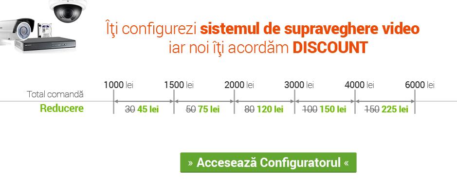 Discount la sistem de supraveghere configurat de tine